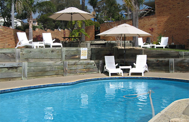 Merimbula Accommodation - Swimming Pool at Ocean View Motor Inn
